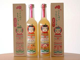 ふくしぼりジュース2本セット(りんご・もも)